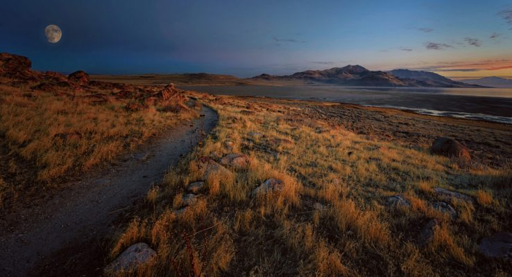 Moonrise at Antelope Island Landscape Photography